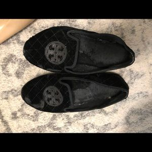 Tory Burch velvet soft loafers in size 10